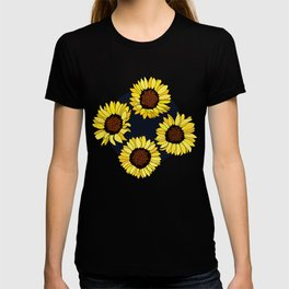 Sunflowers are the New Roses! - Navy T-shirt