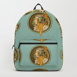 "Alphonse Mucha ""Byzantine Head: The Blonde"" edited Backpack"