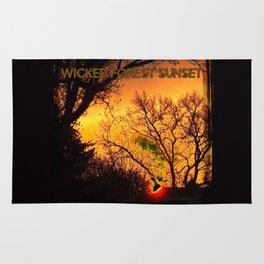Wicked Forest Sunset (The Wicked Side of Art) by Jeronimo Rubio Photography 2016 Rug