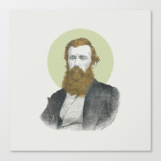 Blue Eyes, Red Beard, Gray Suit Canvas Print