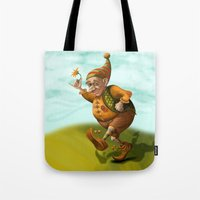 gnome Tote Bags featuring Gnome by OlgaShefranov