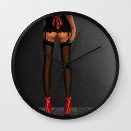 Sexy women legs on high heels. Wall Clock