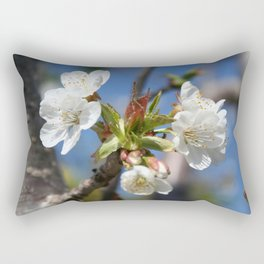 Cherry Blossom In Spring Sunlight Rectangular Pillow