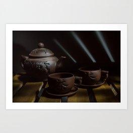 teapot and cups Art Print