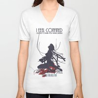 ghost in the shell V-neck T-shirts featuring Ghost in the Shell by [SilenceCorp.]