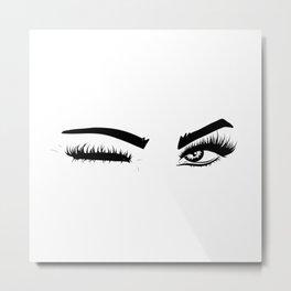 Wink Eyes Metal Print