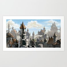 Blue Sky Kingdom Art Print