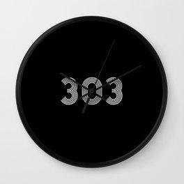 303 rave logo Wall Clock