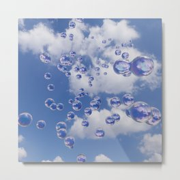 Bubbles in the sky Metal Print