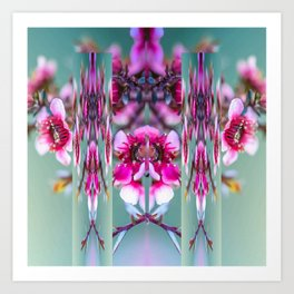 Cherry Blossom Abstract Art Print