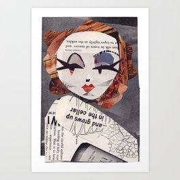 Marlene Dietrich #PrideMonth Collage Portrait Art Print