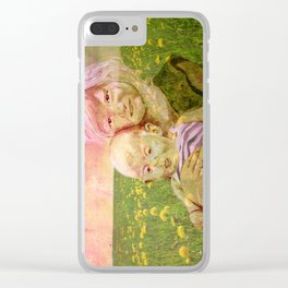 SUMMER SISTERS Clear iPhone Case