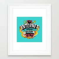 internet Framed Art Prints featuring The Internet. by Chris Piascik