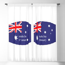 Australia Day Flag Blackout Curtain