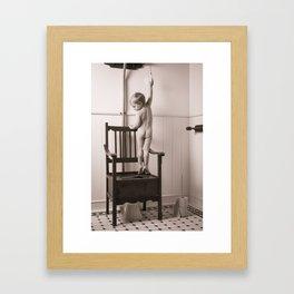 Potty Training Framed Art Print