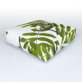 Green Rowan Leaves White Background #decor #society6 #buyart Outdoor Floor Cushion