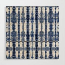 Tiki Shibori Blue Wood Wall Art