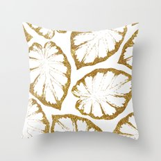 Monstera Gold #society6 #decor #buyart Throw Pillow