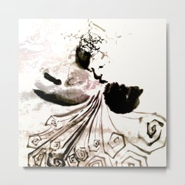 Snow woman Metal Print