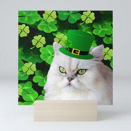 St. Patrick's Day Irish Cat Mini Art Print
