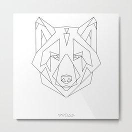linewolf2 Metal Print