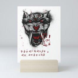 Sabertooth Tiger Mini Art Print