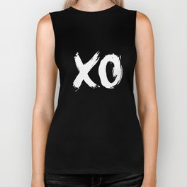 XO Hugs and Kisses white and black gift for her girlfriend xoxo bedroom art and home room wall decor Biker Tank