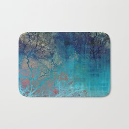On the verge of Blue Bath Mat