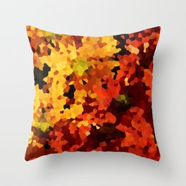 Yellow and Red Sunflowers Throw Pillow
