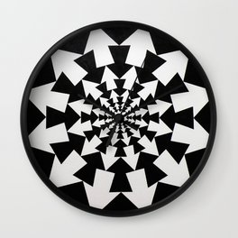 Radial Arrow Design(Black and White) Wall Clock