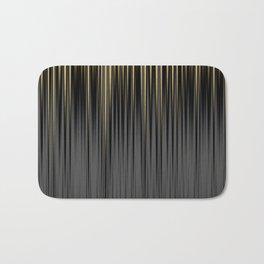 Modern Yellow and Black Jagged Ribbed Stripe Pattern Bath Mat