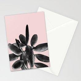 Black Blush Cactus #1 #plant #decor #art #society6 Stationery Cards