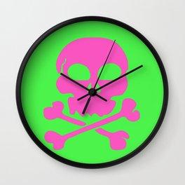 Skull Crazy- Watermelon Wall Clock