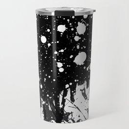 Black and White Splatter Paint  Travel Mug