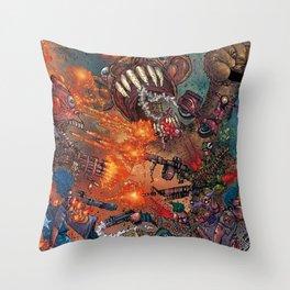 THE FUCKING FROGMAN RAGE! Throw Pillow