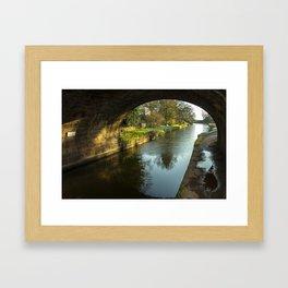 Rock Bridge Shadows  Framed Art Print