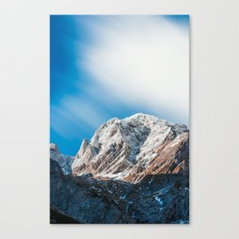 Misty clouds over the mountains Canvas Print