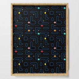 Pac-Man Retro Arcade Video Game Pattern Design Serving Tray