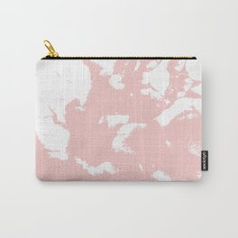 Marble pastel pink 2 Suminagashi watercolor pattern art pisces water wave ocean minimal design Carry-All Pouch