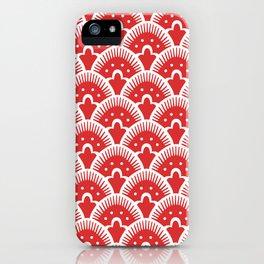 Fan Pattern Red 201 iPhone Case