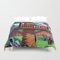 avenger Duvet Covers featuring The Avenger Tykes by J Skipper