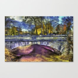 The Headless Horseman Bridge Van Gogh Canvas Print