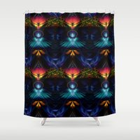 stargate Shower Curtains featuring Stargate Fractal Abstract by BohemianBound