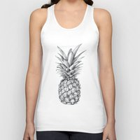 pineapple Tank Tops featuring Pineapple by Sibling & Co.