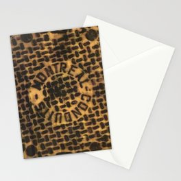 Montreal Conduits Yellow Satin Stationery Cards