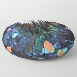 Crystal Cavern Floor Pillow