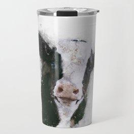 Holstein Cow Watercolor Travel Mug