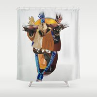 camel Shower Curtains featuring Camel by Ruud van Koningsbrugge