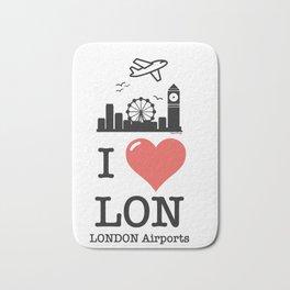 I love/like LON airports Bath Mat
