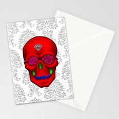 FLOWER SKULL Stationery Cards